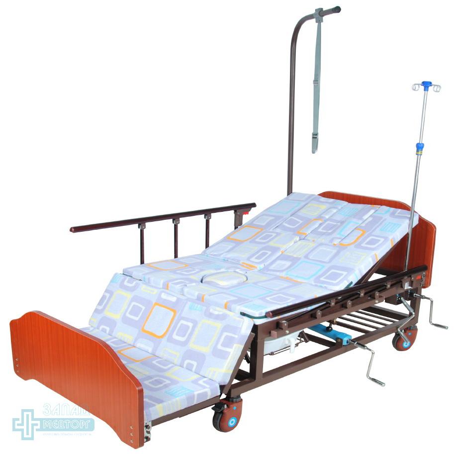 кровать медицинская механическая МК-1121 матрац кресло
