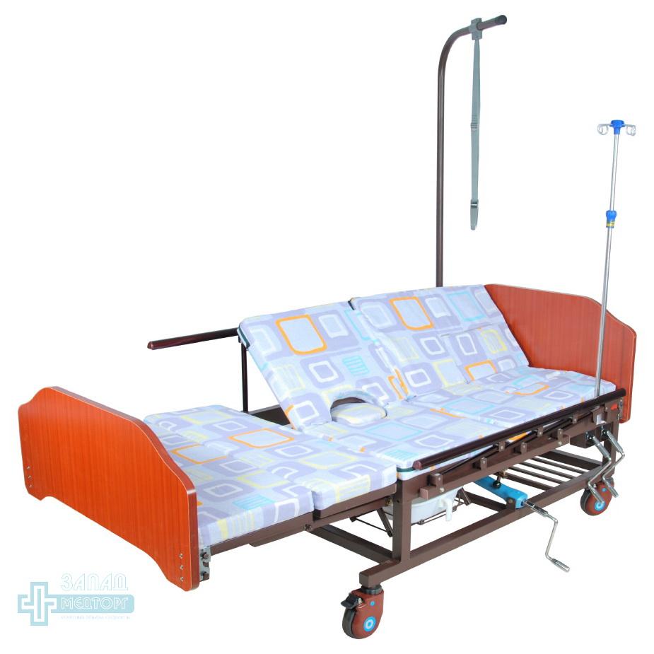 кровать медицинская механическая МК-1121 матрац правый подъем