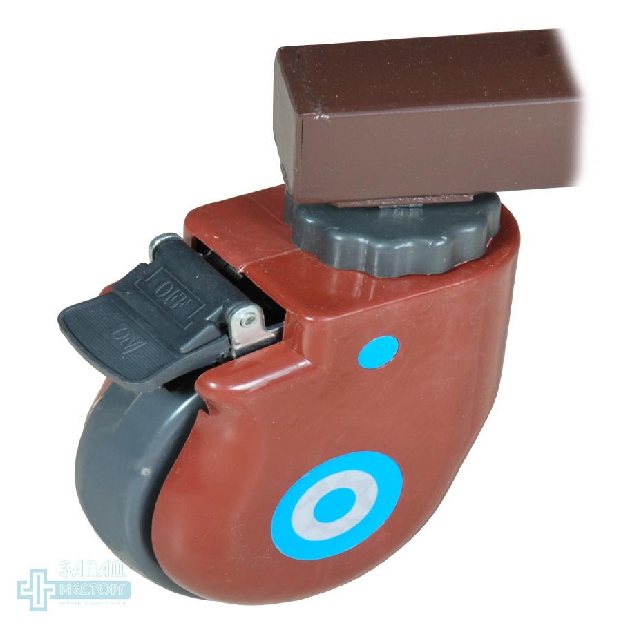 кровать медицинская механическая МК-1121 колесо