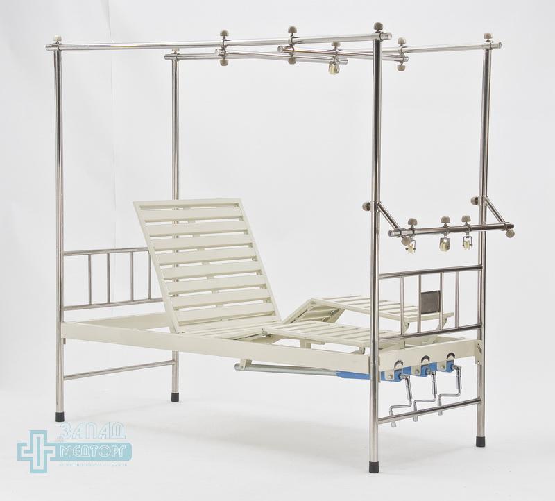 кровать ортопедическая медицинская МК-1119 подъем левый ножной и правый частично