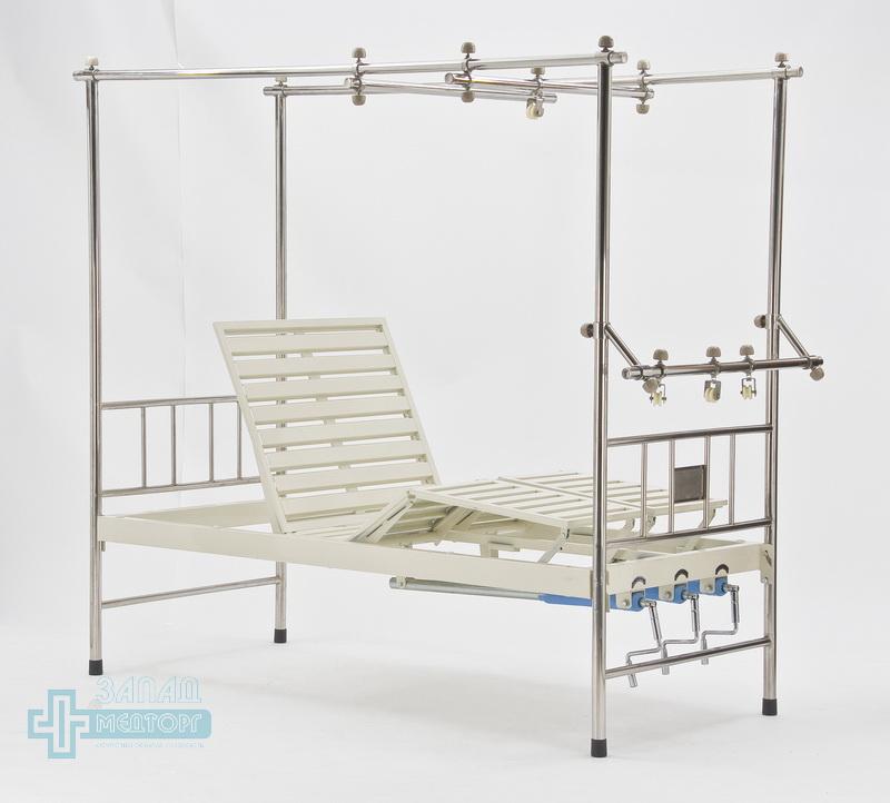 кровать ортопедическая медицинская МК-1119 лебедки вниз