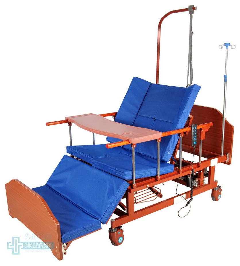 кровать медицинская электрическая МК-129 с матрацом 4