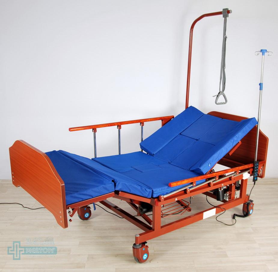 кровать медицинская электрическая МК-129 с матрацом