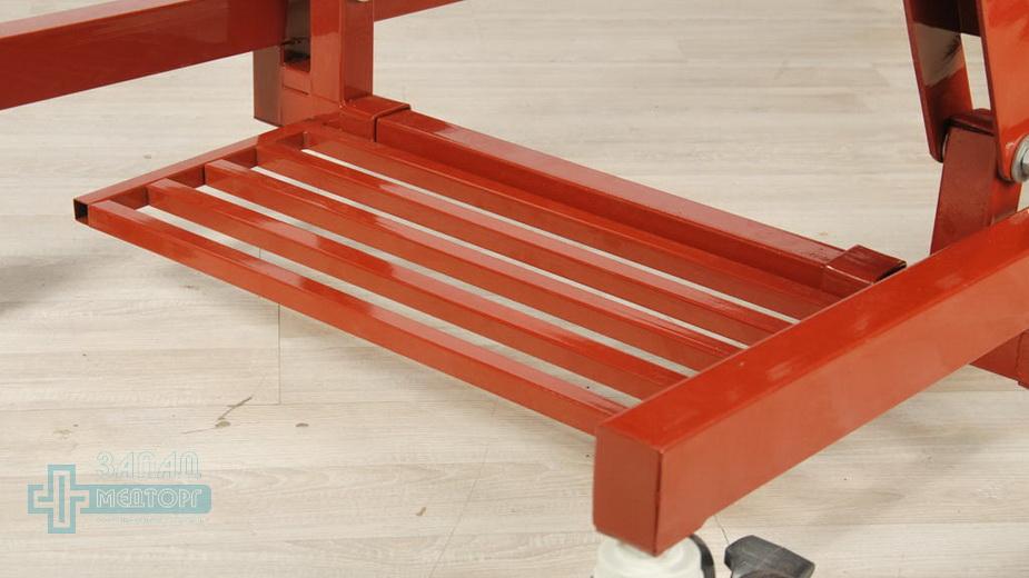 кровать медицинская механическая МК-1124 подножка