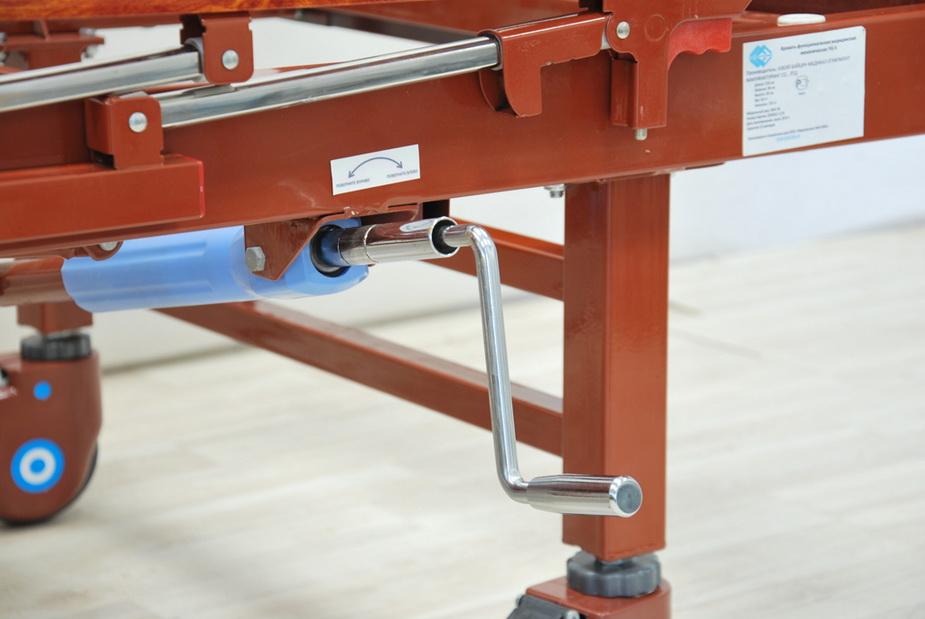 кровать медицинская механическая МК-1122 рычаг управления