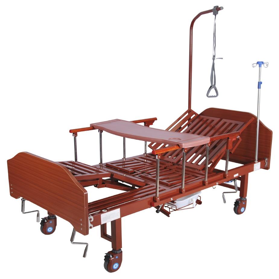 кровать медицинская механическая МК-1122 столик