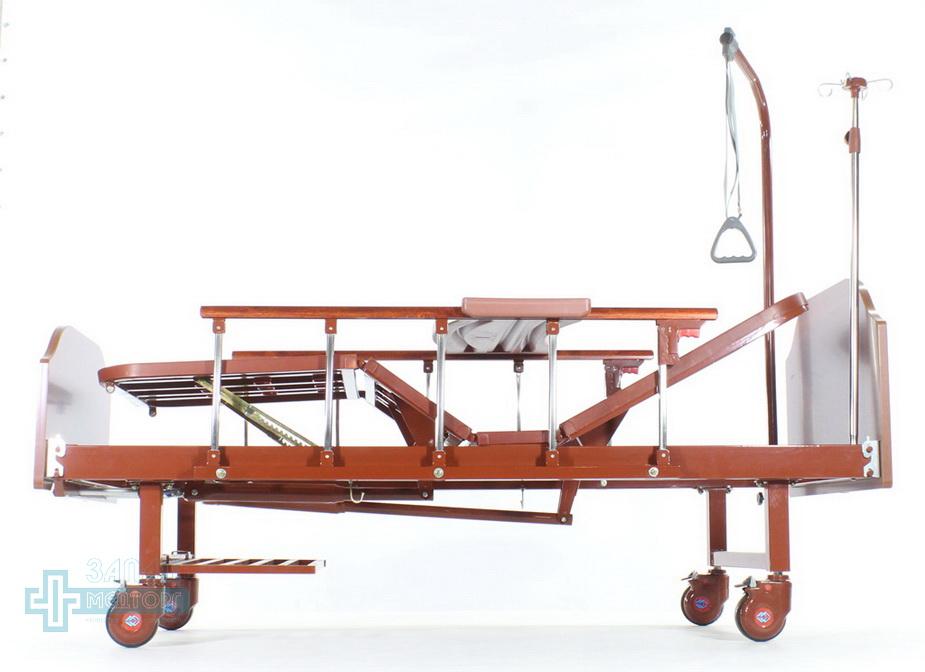кровать медицинская механическая МК-1126 бортики