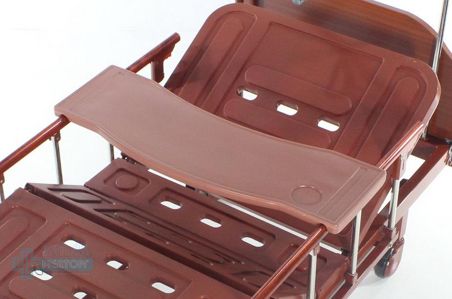 кровать медицинская механическая МК-1126 столик