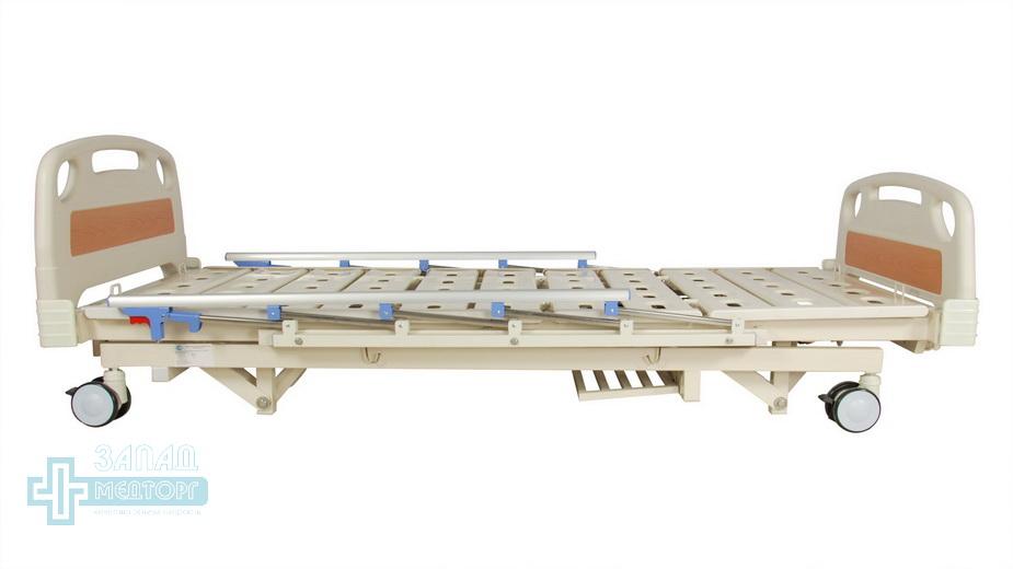 кровать медицинская механическая МК-1125 опущена