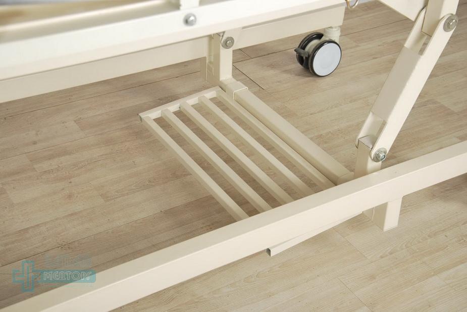 кровать медицинская механическая МК-1125 подножка