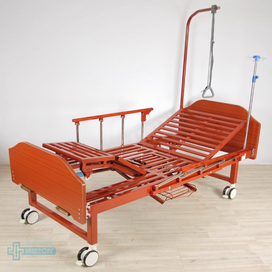 кровать медицинская механическая МК-1123 подъем ног