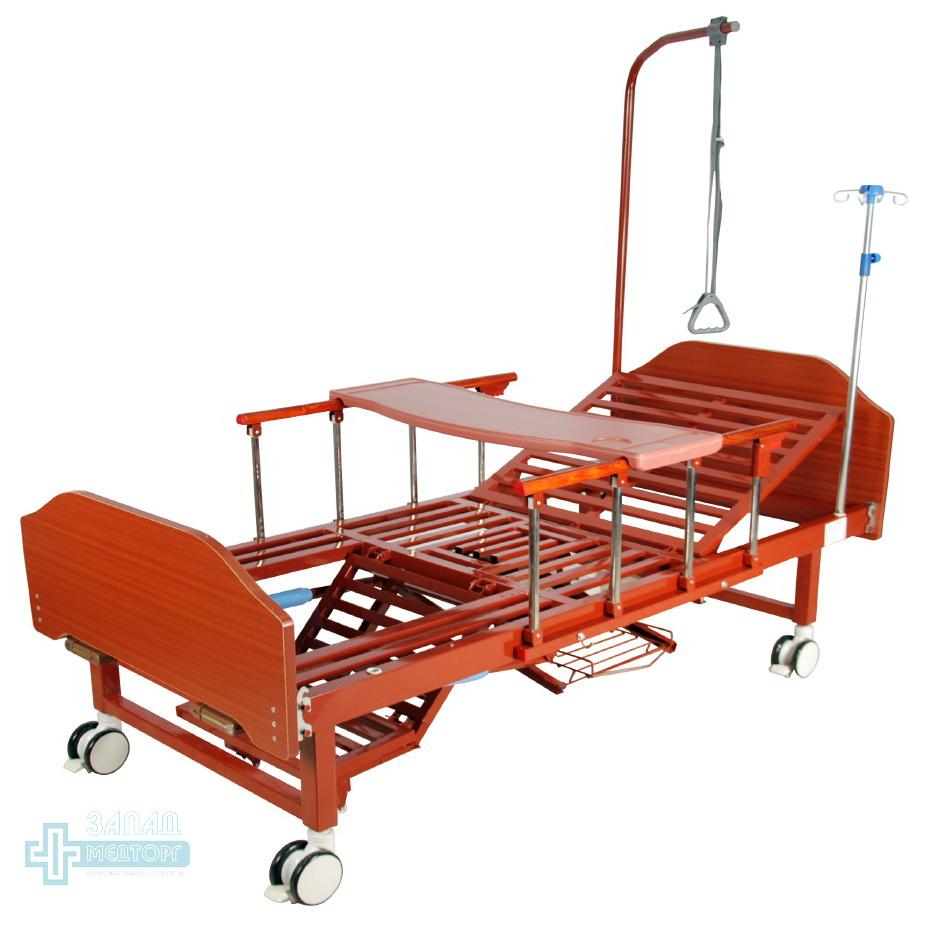 кровать медицинская механическая МК-1123 столик