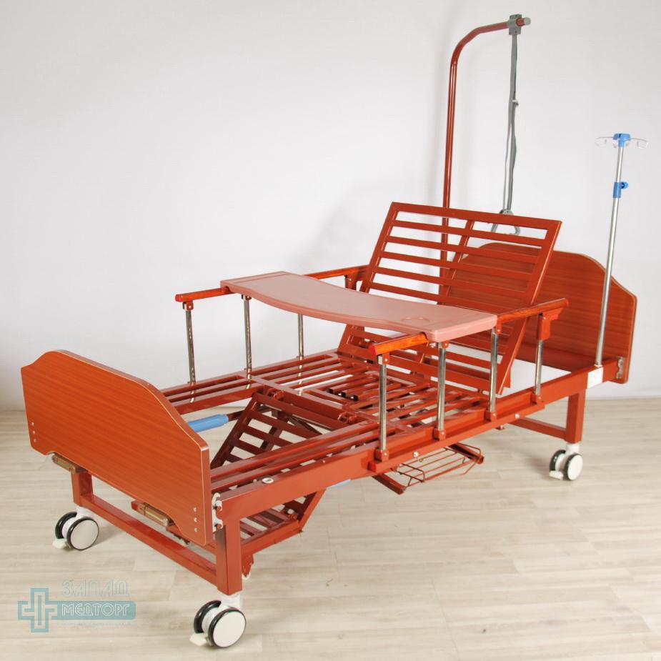 кровать медицинская механическая МК-1123 кресло столик
