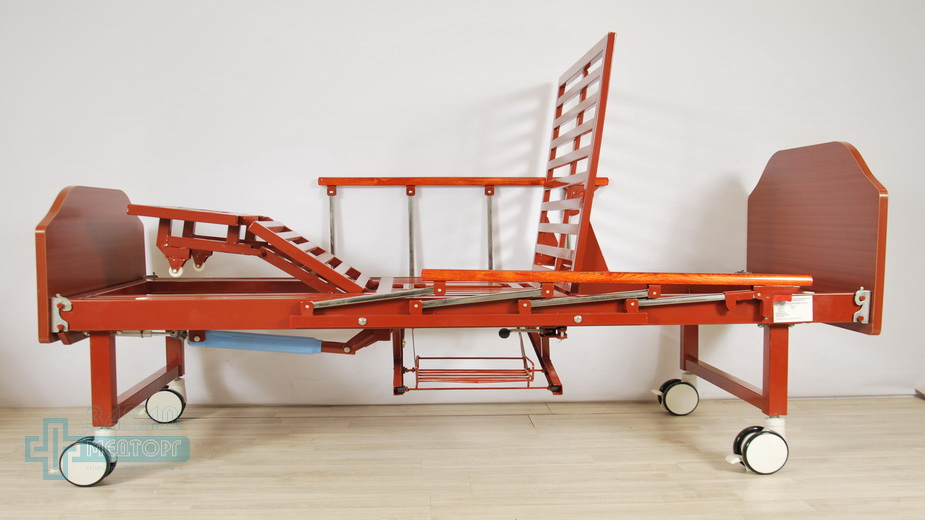 кровать медицинская механическая МК-1123 вертикальный подъем