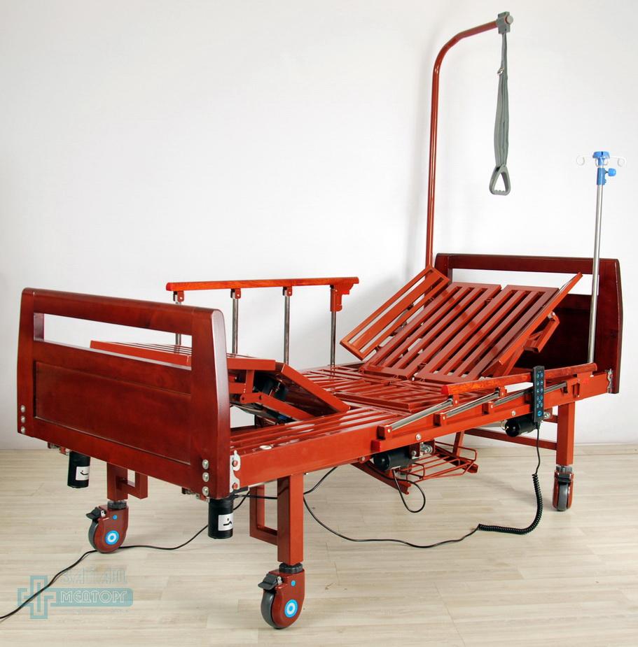 кровать медицинская электрическая МК-1210 подъем передний и задний