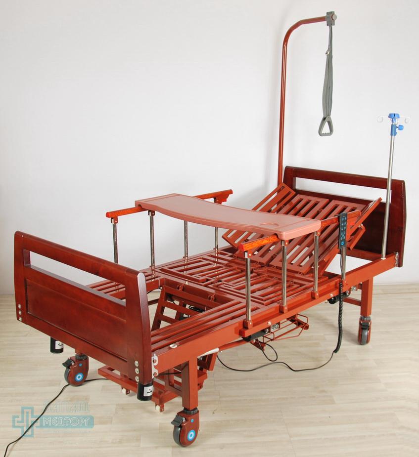 кровать медицинская электрическая МК-1210 столик